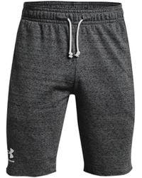 Under Armour Ua Rival Terry Men's Shorts - Gray