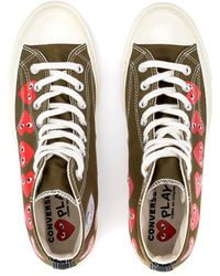 COMME DES GARÇONS PLAY Khaki Multi Red Heart Cotton Chuck Taylor Play Converse All Star 70 Low Sneaker - Multicolor