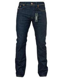 DIESEL Jeans dritti Larkee 084 Hn blu scuro