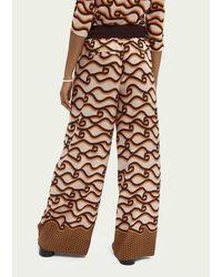 Maison Scotch Wide Legged Trousers - Multicolour