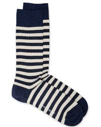 Oliver Spencer Miller Socks Navy - Blue