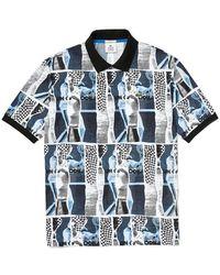 Lacoste Polo con stampa grafica - Blu