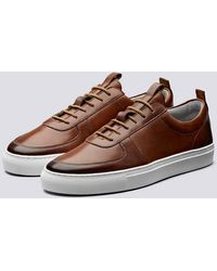 Grenson Sneaker 22 dipinta a mano marrone chiaro