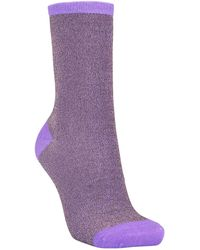 Becksöndergaard Dina Solid Sock Purple S M - Morado
