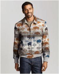 Pendleton Capa lana hombre abrigo prara hora punta - Multicolor