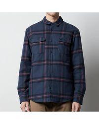 RVCA Yield Flannel Shirt Navy - Blue