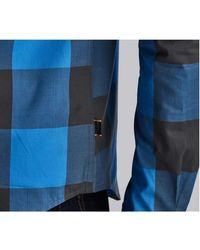 Barbour Camisa de algodón a cuadros en negrita gris oscuro - Azul