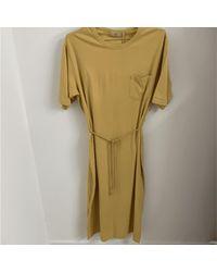 Minimum Robe Maxi T Shirt Philine Jaune Moutar - Vert