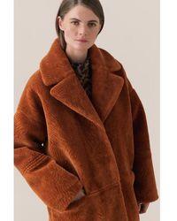 Second Female Faux Fur Myra Winter Coat - Brown