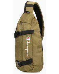 Champion Buckle Front Sling Backpack Olive Green - Multicolor