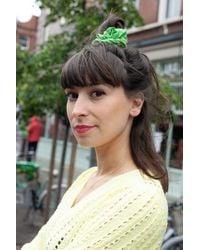 Stine Goya Hair Scrunchy Green Dots - Verde