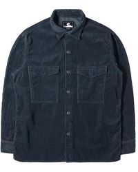 Edwin - Grande chemise en velours côtelé Ls Ebony Navy Garment Dyed - Lyst