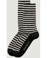 Nudie Jeans Olsson Striped Socks - Black