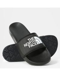 The North Face Black And White S Base Camp Slides Iii Sandals