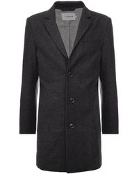 Farah Ruxton Wool Blend Overcoat - Blue