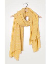 American Vintage Fatistreet Yellow Eliane Dotty Scarf