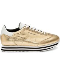 Rebecca Minkoff Susanna Gold Sneaker - Mettallic