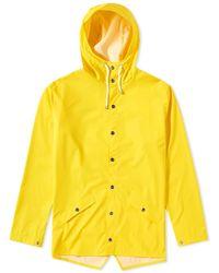 Rains - Giacca classica in poliuretano giallo e poliestere - Lyst