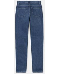 Carhartt W 'Page Carrot Pant Blue Dark Stone Wash