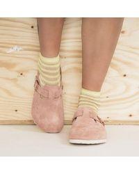 Birkenstock Boston Suede Leather Light Rose Sandal - Multicolor
