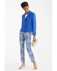 Weekend by Maxmara Cabras Cotton Pique Trousers - Blue