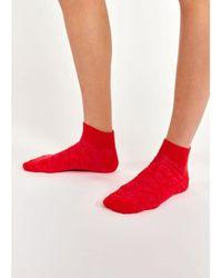 Essentiel Antwerp Red Pink Ankle Socks