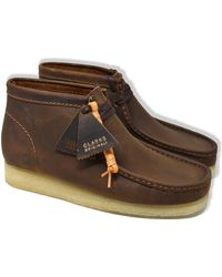 Clarks Beeswax Leather Wallabee Boots - Multicolour
