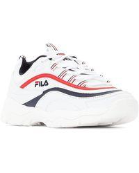 Fila - White Navy und Red Ray Low WMN Schuhe - Lyst