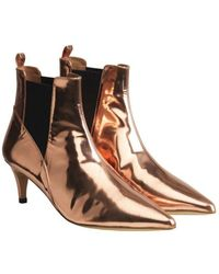 By Malene Birger Copper Metallic May Pointed Ankle Boots - Multicolor