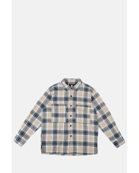 Edwin Big Shirt ML Heavy Flannel Ebony Silver Grey - Multicolore