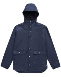Herschel Supply Co. Blue Peacoat Ecast S Rainwear Parka Jacket
