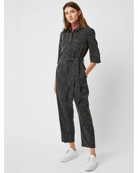 Great Plains Modern Tweed Jumpsuit In Black Multi