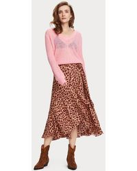 Scotch & Soda Animal Print Midi Wrap Skirt - Multicolor