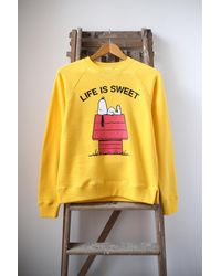 Chinti & Parker Sweat Jaune Snoopy La Vie Est Douce