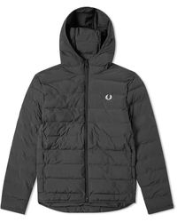Fred Perry Authentic Insulated Hooded Jacket Black - Noir