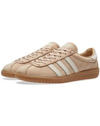 adidas - Pale Nude And Clear Brown Leather Bermuda Shoes - Lyst