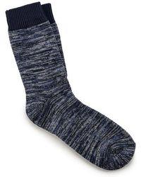 Birkenstock Blue Cotton Multi Socks