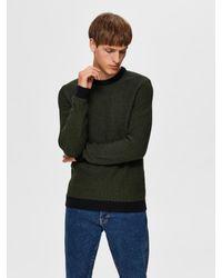 SELECTED Ausgewählter Mann-Pullover grün und schwarz für Männer