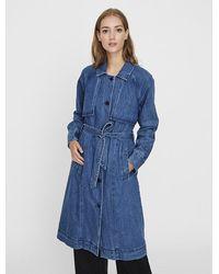 Vero Moda Denim Trenchcoat - Blau