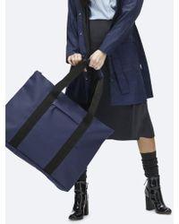 Rains - Blue Waterproof Weekend Tote Bag - Lyst