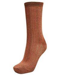 SELECTED Glitter Socks Caramel - Brown