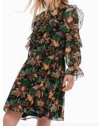Maison Scotch Jungle Print Dress - Verde