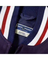 Fred Perry Bleu marine et rouge J1307-608 rééditions Made in England Original Tennis Bomber Jacket
