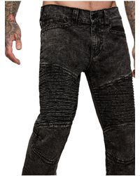 True Religion Geno Big T Moto Jean - Black