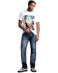 True Religion Ricky Straight Super Qt Jean - Blue