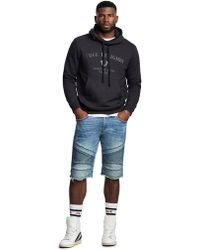 True Religion - Men's Geno Moto Low Frequency Slim Denim Shorts - Lyst