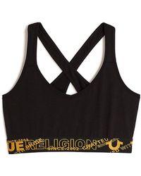 e4c1bdc75ecc7 Lyst - True Religion Joan Smalls For  undercover  Bralette in Black