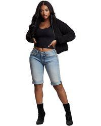 True Religion Jennie Big T Knee Short - Blue