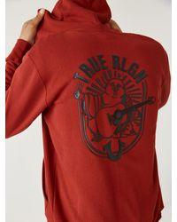 True Religion Logo Zip Hoodie - Red