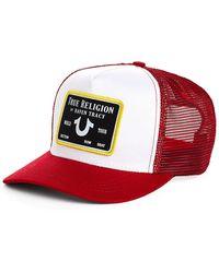 True Religion Tr X Raven Trucker Hat - Red
